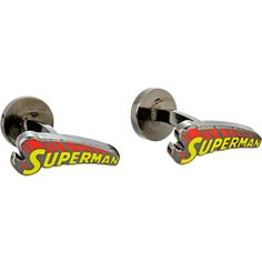 Cufflinks Inc. Vintage Superman Comic Book Cover Logo Cufflinks Yellow/Red - Zappos.com Free Shipping BOTH Ways