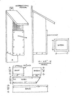 Screech Owl house plans | Flickr - Photo Sharing!