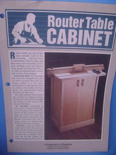 Shopnotes Router Table Cabinet Fold Out Plans Perforated Illustrated Supplement