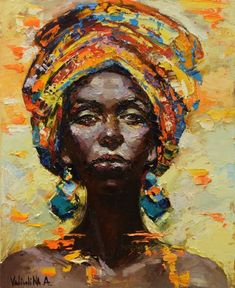 Anastasiya Valiulina-African woman portrait
