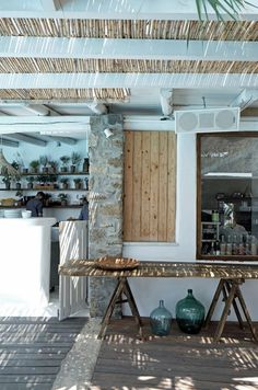 Beach House :: Holiday Home Decor Design Inspiration :: Beachside Hideaway :: Free Your Wild :: See more Untamed Beach House Inspiration Exterior Design, Interior And Exterior, Outdoor Spaces, Outdoor Living, Indoor Outdoor, Mediterranean Houses, Beach House Decor, Home Decor, Beach Shack