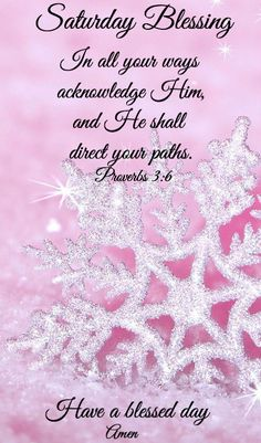 Saturday Christmas Blessing - Proverbs 3:6