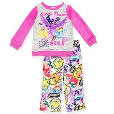 a2df3c15e3 My Little Pony Girls Fleece Top and Flannel Pants Pajamas  MyLittlePony   Fleece  Pajamas