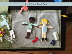 Instant PDF download for this adorable felt doll pattern and tutorial! No sewing required!