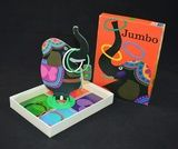 Jumbo ringwerpspel  In goede vintage staat!  Ringwerpspel. Werp de ringen om de slurf van de olifant. Inhoud van rechthoekige doos met deksel: kartonnen olifant op plastic voet, zes ringen, kartonnen plaat. zie: http://www.retro-en-design.nl/a-40709189/spelen/jumbo-ringwerpspel/