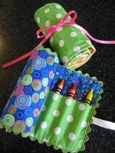 Crayon Rolls. Helps keep on the go crayons organized.