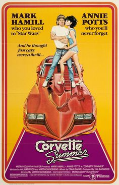 Corvette Summer Movie Poster Print x Corvette Summer, Classic Corvette, Chevrolet Corvette Stingray, 1957 Chevrolet, Old Movies, Vintage Movies, Great Movies, Vintage Ads, Famous Movies
