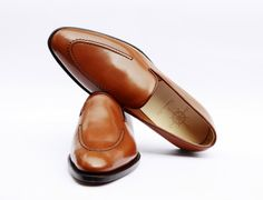 Vintage leather man shoes - Loafer, colored handmade calfskin, comfortable for anytime by carinovn on Etsy