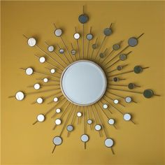Starburst Mirror shades of light Cool Mirrors, Round Mirrors, Floor Mirror, Mirror Mirror, Silver Spray Paint, Retro Mirror, Starburst Mirror, Floor Decor, Light Beige