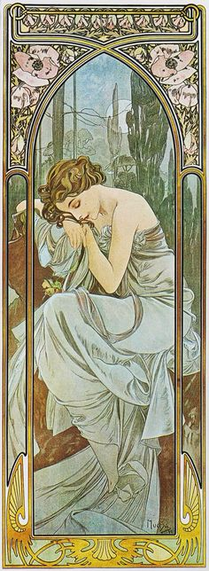 Times of the Day: Night's Rest, by Alphonse Mucha, 1899
