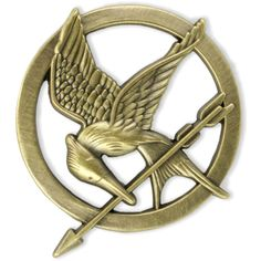 The Hunger Games Mockingjay Pin | Hot Topic (€12) ❤ liked on Polyvore featuring jewelry, accessories, hunger games, fillers and pins