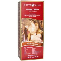 Surya Henna, Henna Cream, High-Performance Healthy Hair Color for Grey Coverage…