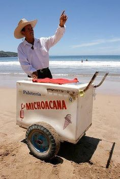 Ice cream man . Michoacan Mexico