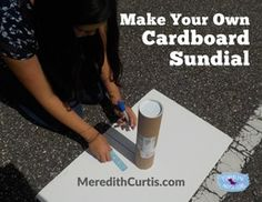 """Make Your Own Sundial"" by Meredith Curtis gives step-by-step instructions to make a sundial that works. What a fun idea to add to a unit study on Ancient Times, Clocks, or any ancient civilization."