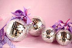 Disco Balls- lots of ribbons