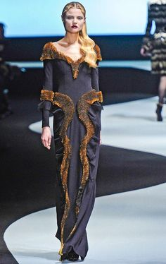 Contrast smooth with sinuous detail. (Viktor & Rolf)