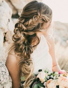 Messy braid hairstyle #gorgeoushair