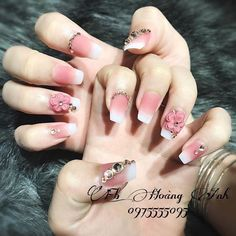 3d Nail Designs, Nail Art Designs Videos, French Nail Designs, Beautiful Nail Designs, Acrylic Nail Designs, Dope Nails, 3d Nails, Swag Nails, Pink Nails