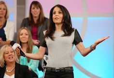 Bethenny's T-Shirt with Pleather Sleeves  LaLa Anthony's 5th & Mercer Clothing Line!  @Shopbop
