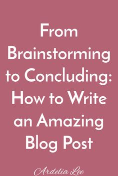 Writing a blog post is rarely a linear process. However, there are steps in the writing process that are essential to creating an amazing, cohesive, and organized blog post. If you've been wanting to improve your writing and learn how to create great content, this is for you. Click through to learn how to write an amazing blog post.