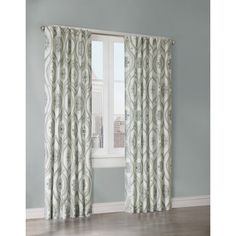 Nicole Miller Medallion Pair Of Curtains In Blue White