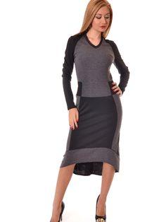 Dámske šaty AVG - čierna-šedá