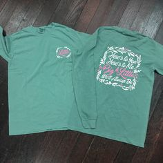 Big/Little Floral Sorority Comfort Colors Long Sleeve Shirt