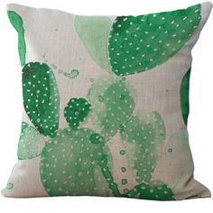 a0d7ba3bd Livv Lifestyle linnen kussenhoes cactus groen 45x 45 Cushions