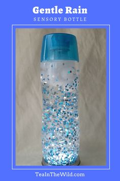 The Gentle Rain Sensory Bottle captures the beauty of a rain shower on a Spring day. It's like having your own personal rain cloud in a bottle! Earth Day Activities, Art Therapy Activities, Calming Jar, Calming Bottle, Cloud In A Bottle, Rain Crafts, Calm Down Bottle, Cloud Craft, Diy Crafts For Girls