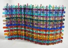 Fused glass weaving