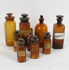Pharmacy Apothecary Amber Glass Bottles