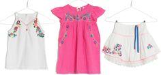 mim-pi summer 2014 floral motifs, white top mim-263, pink top mim-275, white skirt mim-264