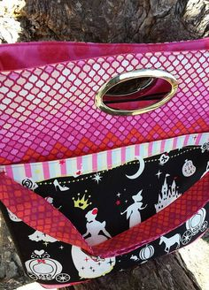 Window Shopper Tote Cinderella Tula Pink Purse by JustPlainSweet