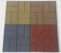 Hot Rubber Patio Paver Tile Floor Tiles Pavers Driveway