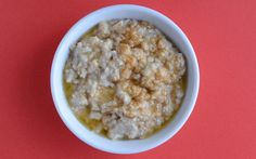 Oatmeal with Peanut Butter and Honey from the Cooking Light Diet