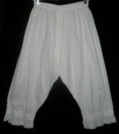simple lace edging, Victorian Bloomers