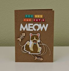 You Are The Cat's Meow card by Summer Fullerton featuring Jillibean Soup Fur Fusion