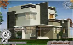 Simple Modern House Design in Kerala Double Storey Display Homes Free House Design, Modern Small House Design, 2 Storey House Design, Modern Exterior House Designs, Latest House Designs, Simple House Design, House Front Design, Modern Architecture House, Modern Houses Pictures