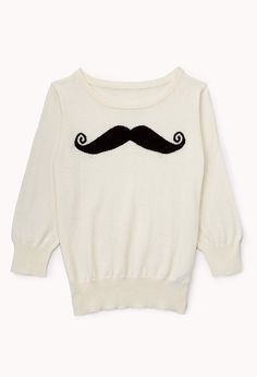 Musctache Sweater | FOREVER21 girls - You mustache this sweater #Juniors #Mustache