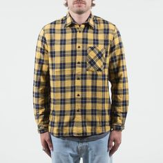 Nudie Jeans - Sten Block Check Yellow/Navy