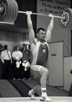 Syzmon Kolecki (94), Poland  PR Snatch - 182.5kg (2000 Syndey Olympics) PR Clean & Jerk - World Record 232.5 (2000 Sofia European Championships) PR Total - 412.5 Sofia European Championships)  - 2x Olympic Silver Medalist (2000 Sydney, 2008 Beijing) - 2x World Championships Silver (Athens 1999, Santa Domingo 2006) - 2x World Championships Bronze (Antalya 2001, Chiang Mai 2007) - 4x European Championships Gold (1999, 2000, 2007, 2008) and one Silver (2006)