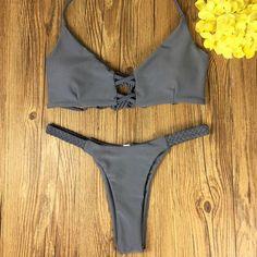 Handmade Crochet Swimsuit Bikini Set 2017 Swimwear Sexy Brazilian Bikinis Women Bikini Halter Swimwear Summer Bathing Suit