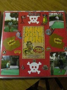 Miniature Golf Scrapbooking Boston Vacation, Miniature Golf, Scrapbooking, Miniatures, Scrapbooks, Memory Books, Minis, Scrapbook, Notebooks