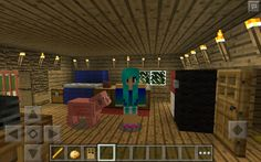 Inside the Mystery Shack in minecraft (Waddles!!!!)