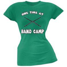 Band Camp Kelly Green Soft Juniors T-Shirt - X-Large, Women's