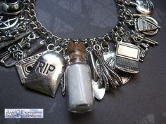 Road So Far Supernatural Charm Bracelet Diary of the Winchesters OOAK
