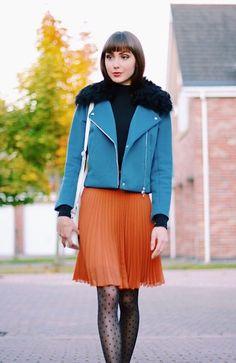 Get this look: http://lb.nu/look/8205107  More looks by Daniella Schütze: http://lb.nu/daniella_schutze  Items in this look:  Antipodium Jacket, Vintage Pleated Skirt, Zatchels Satchel, Asos Tights   #velvetsunday