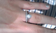 Tiffany solitaire with channel-set band #engagementring #weddingband