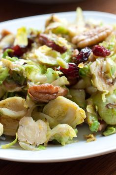 Brussels Sprouts with Pecans and Cranberries Recipe