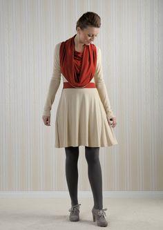 Mirabelle - Kleid mit Kragen *sand* von BERON auf DaWanda.com